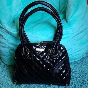 Gianni bini quilted black handbag